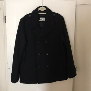 Calvin Klein Black Peacoat Men, mint condition